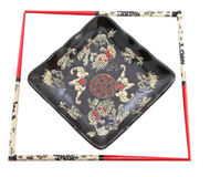 японец рамки тарелки стоковое фото