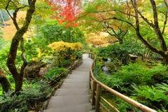 японец сада осени Стоковая Фотография