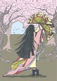 японец танцора иллюстрация вектора