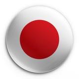 японец флага значка Стоковые Фото