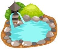 японец фонтана Стоковые Изображения