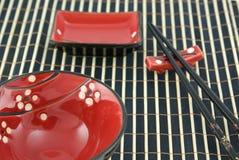 японец dishware Стоковая Фотография