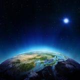 Япония и Китай от космоса иллюстрация штока