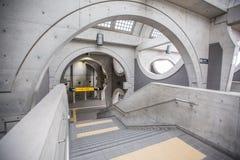 ЯПОНИЯ, КИОТО - 11-ОЕ ФЕВРАЛЯ: Интерьер вокзала Киото (Uji) Стоковые Фотографии RF