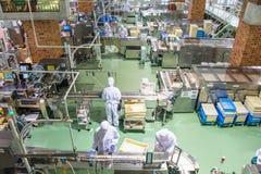 Япония, Саппоро - 13-ое января 2017: Ishiya, фабрика шоколада Стоковое Изображение RF