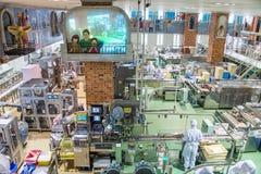 Япония, Саппоро - 13-ое января 2017: Ishiya, фабрика шоколада Стоковое Фото