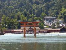 япония Miyajima Большое torii Стоковое Изображение RF