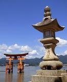 япония Miyajima Большое torii Стоковая Фотография