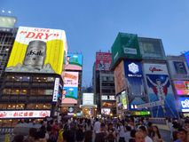 япония osaka Район Dotonbori стоковое фото