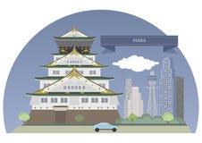 япония osaka иллюстрация вектора