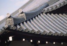японская ая черепицей крыша Стоковая Фотография RF