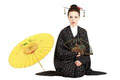Японская гейша стоковая фотография