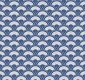 Японская геометрическая безшовная картина Стоковое Изображение RF