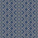 Японская голубая геометрическая картина Стоковая Фотография RF