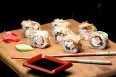 Японская еда, суши пеламиды с зажаренными семгами Стоковые Изображения RF
