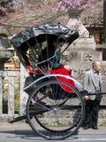 японская езда рикши Стоковое Изображение RF