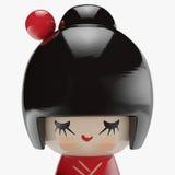 Японская деревянная кукла Стоковые Изображения RF