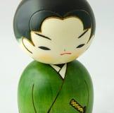 Японская деревянная кукла Стоковое Изображение RF