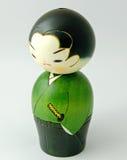 Японская деревянная кукла Стоковые Фото