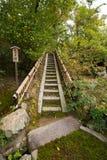 Японская лестница шага камня сада Стоковое фото RF