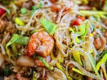 Японская еда - креветки, Scallops моря, кальмары и семга Стоковые Изображения