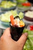 Японская еда, крен Калифорнии Стоковые Изображения RF