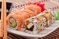 Японская еда - суши и сасими Стоковая Фотография
