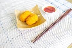 Японская еда с тэмпурой краба Стоковая Фотография RF