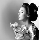 Японская женщина гейши Стоковые Изображения