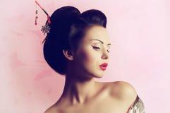 Японская женщина гейши Стоковое Изображение