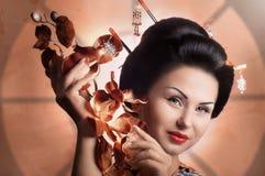 Японская женщина гейши Стоковые Фото