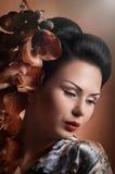 Японская женщина гейши Стоковые Фотографии RF