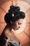 Японская женщина гейши Стоковое фото RF
