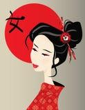 Японская женщина Стоковое Изображение