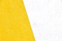 Японская желтая предпосылка текстуры белой бумаги Стоковое фото RF
