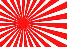 Японская иллюстрация вектора флага солнца Иллюстрация вектора