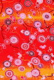 Японская картина кимоно Стоковые Фотографии RF