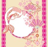Японская карточка koi Стоковое Фото