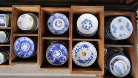 Японская керамика для продажи в Киото, Японии стоковая фотография rf