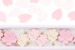 Японская кондитерская, сладкое wasanbon стоковые изображения rf
