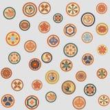 Японская красочная картина гребней Стоковое Фото