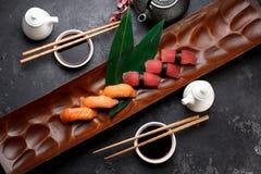 Японская кухня азиатская еда Суши Стоковые Изображения RF
