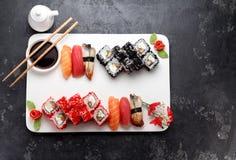 Японская кухня азиатская еда Суши Стоковое Изображение RF