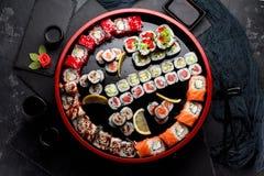 Японская кухня азиатская еда Суши Стоковое Изображение