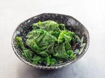 Японская кухня, зажаренный шпинат мустарда Стоковое Фото