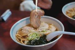 Японская кухня рамэнов должна попробовать! стоковые фотографии rf
