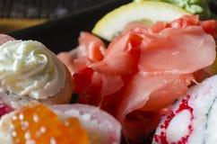 Японская кухня - суши Стоковое Изображение RF