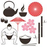 Японская культура иллюстрация штока
