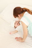 Японская мама и ее младенец Стоковое фото RF