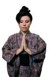 японская моля женщина Стоковая Фотография RF